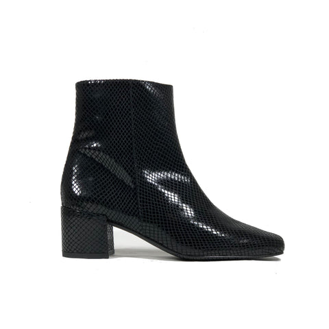 Jacqui vegan leather ankle boots with block heel
