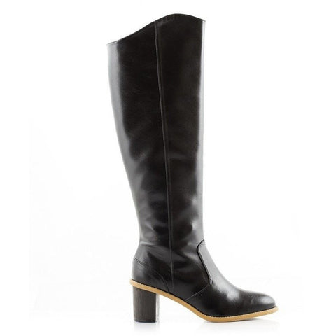Bourgeois Boheme - 'Emily' knee-high vegan boot with heel - Vegan Style