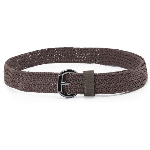 Ahimsa - braided women's vegan belt - espresso