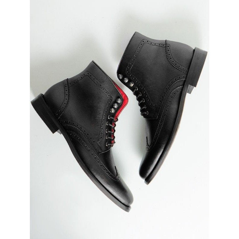 Will's Vegan Shoes - brogue boots (black) - Vegan Style