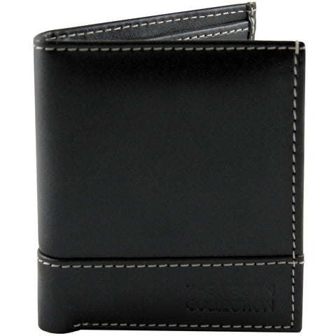 'Coleman' Bi-Fold Vegan Wallet by The Vegan Collection - Black - Vegan Style