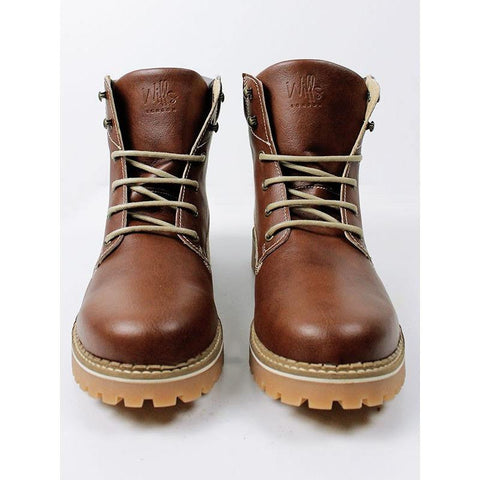 Will's London - Dock Boots in Chestnut - Vegan Style