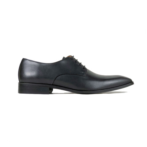 'Remy' - classic vegan derby in black by Zette Shoes