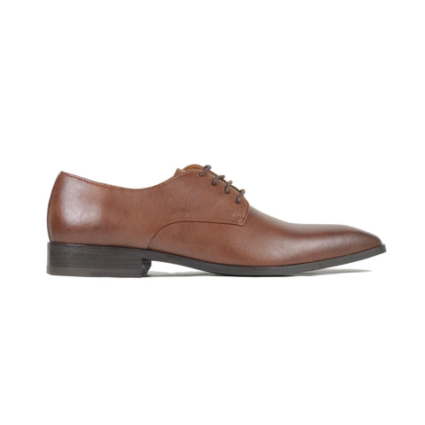 'Remy' - classic vegan derby in chestnut by Zette Shoes - Vegan Style