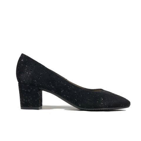 'Lissy' vegan mid heel by Zette Shoes - black