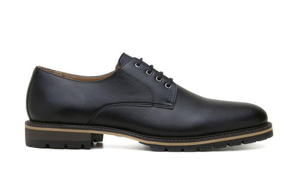'David' men's derby shoe  by Ahimsa - black - Vegan Style