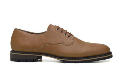 'David' men's derby shoe by Ahimsa - tan - Vegan Style
