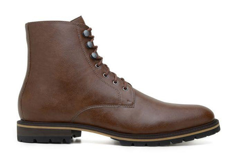 'Robert' vegan men's lace-up boots by Ahimsa - cognac - Vegan Style