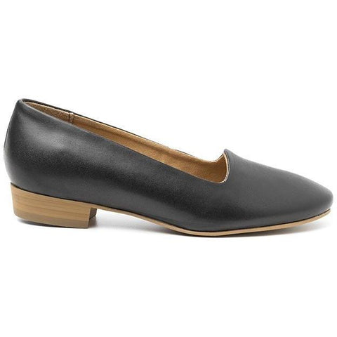 'Serena' vegan women's flat by Ahimsa - black