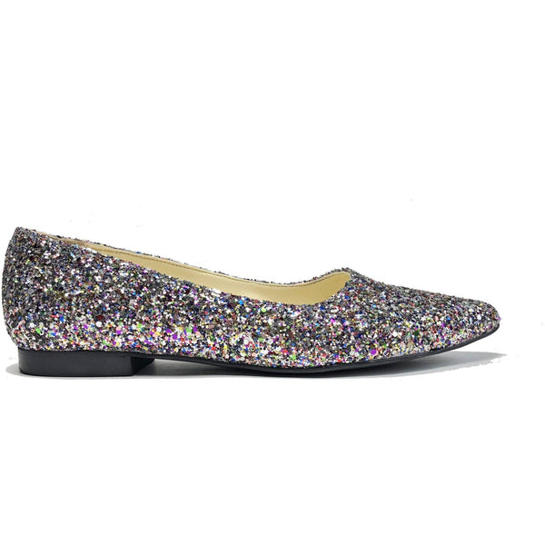 'Sophie' Glitter Flats by Zette Shoes - Vegan Style
