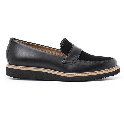 'Francisca' Women's Loafers (Black) by Ahimsa