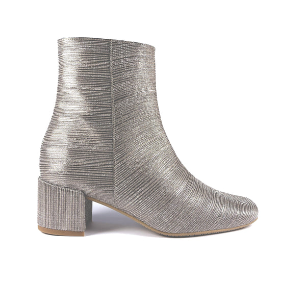 'Jacqui' vegan ankle boot by Zette Shoes - galaxy grey