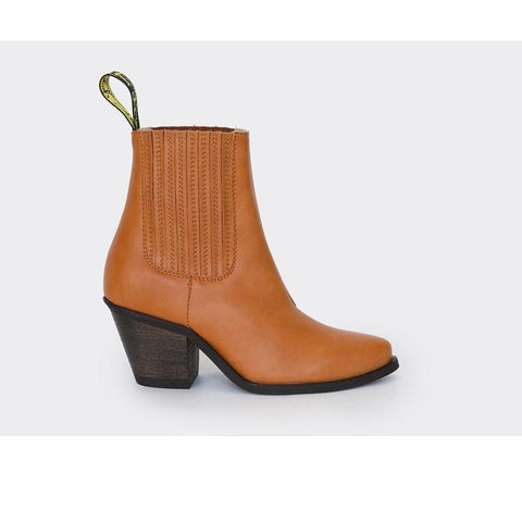 'Daisy' Vegan Ankle Boots by Good Guys Don't Wear Leather - honey