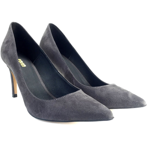 FAIR Shoes - vegan high heels  - grey