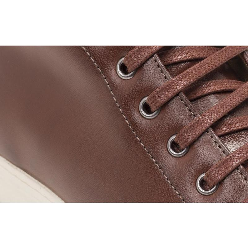 Men's High-Top Sneakers (Cognac) by Ahimsa