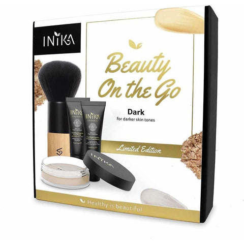 Beauty On The Go Kit (Dark) by Inika - Vegan Style