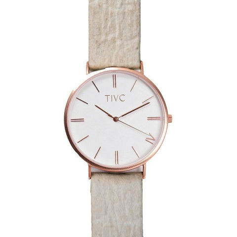 Time IV Change Watch - Rose Gold Face + Pinatex Band