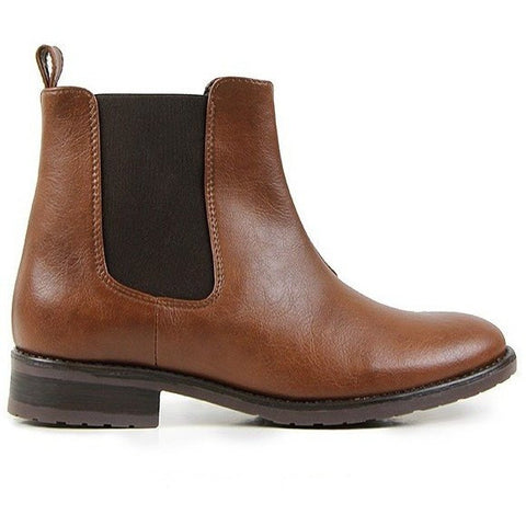 Will's Vegan Shoes - Women's Chelsea boot (chestnut)