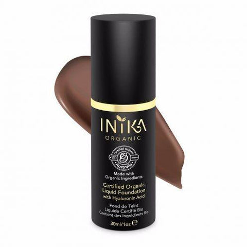 Liquid Mineral Foundation (Cocoa) By Inika - Vegan Style