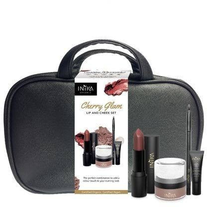 Cherry Glam - Lip & Cheek Set by Inika cosmetics