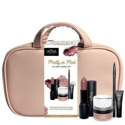 Pretty in Pink - Lip & Cheek Set by Inika cosmetics