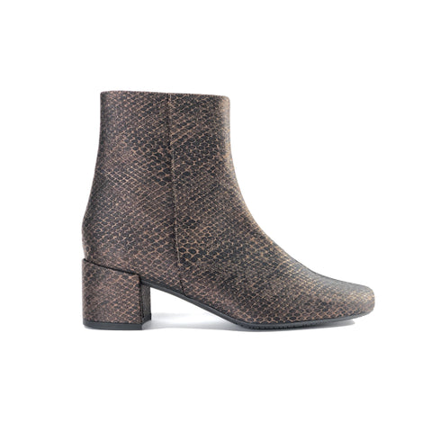 Jacqui - vegan snake leather ankle boots - bronze