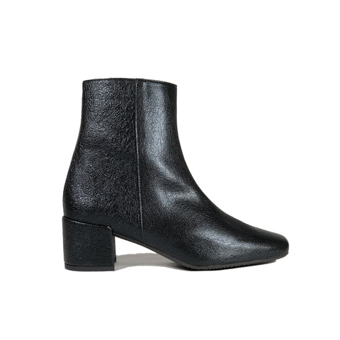 Jacqui' vegan-leather bootie by Zette Shoes - black