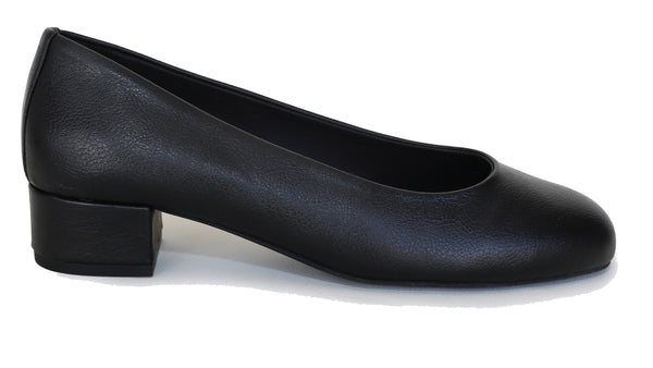 'Betty' vegan apple leather low-heels by Good Guys - black - Vegan Style