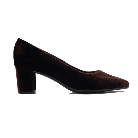 Joy vegan block heel pumps shoes