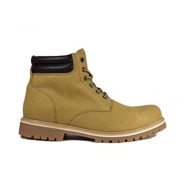 'Lennox' lace-up work boot for men by Zette Shoes - Sand - Vegan Style