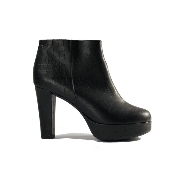 Melissa vegan crocodile material high heeled bootie