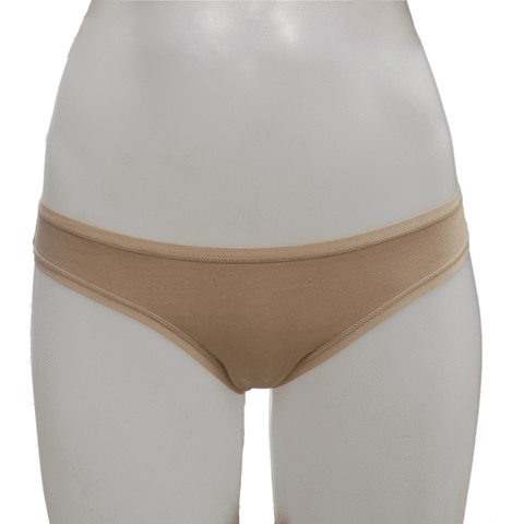 Women's Fair Trade Bikini Brief (Beige) by Etiko - Vegan Style