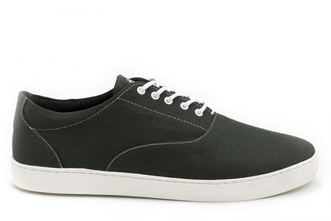 The Wave - Canvas sneaker from Ahimsa - dark olive
