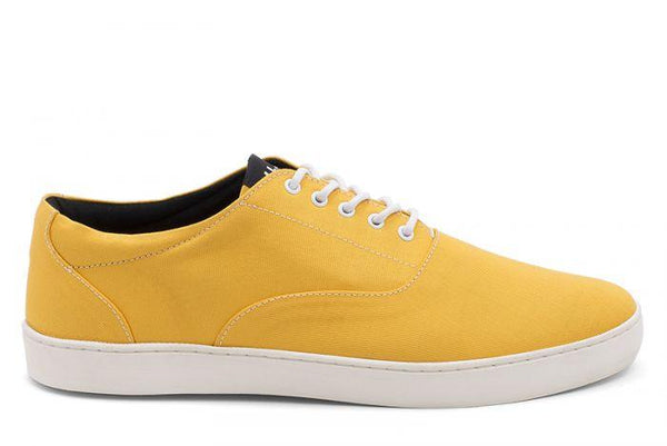 The Wave - Canvas sneaker from Ahimsa - yellow