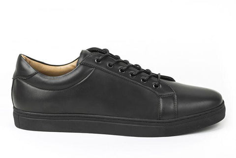 Vegan black sneakers made ethically by Ahimsa