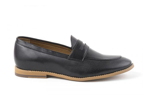 'Irene' Women's Vegan Loafers By Ahimsa - black