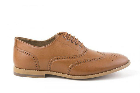 'Elena' Women's Vegan Brogues by Ahimsa - tan