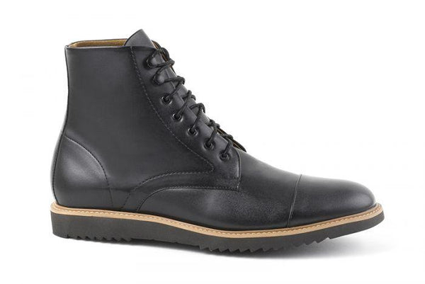 'Eddie' vegan men's lace-up boots by Ahimsa - black - Vegan Style