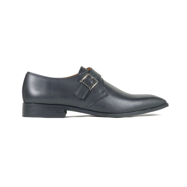 'Pierre' - monk shoe in black by Zette Shoes - side view