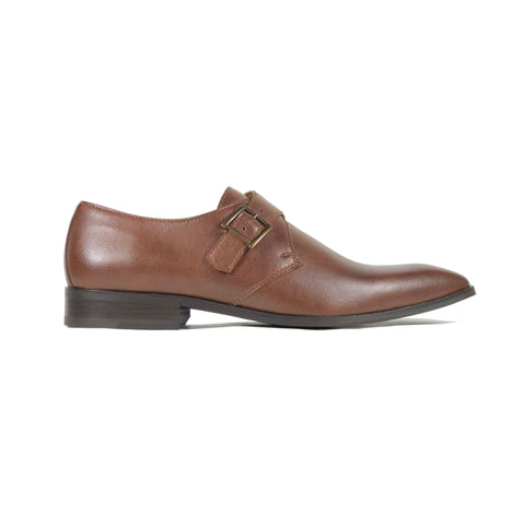 'Pierre' - vegan monk shoe in chestnut by Zette Shoes - Vegan Style
