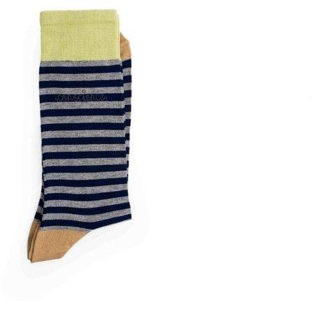 Navy striped socks by Conscience