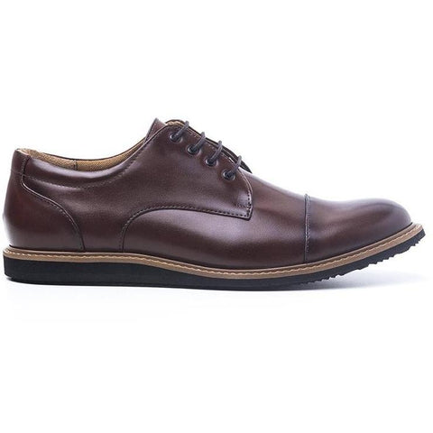 Ahimsa 'william' men's oxford - cognac