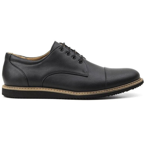 Ahimsa 'William' men's vegan-leather oxfords - black