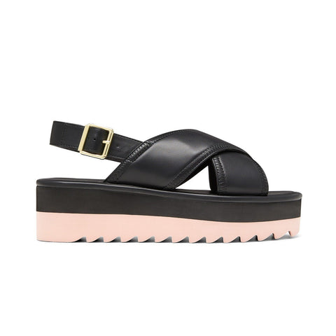 ORLY // NOA  women's vegan sandal by Twoobs - black and pink