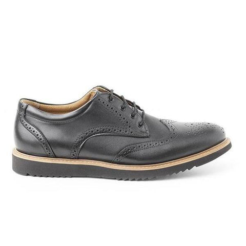 'Philip' Wing Tip Derby By Ahimsa - Black