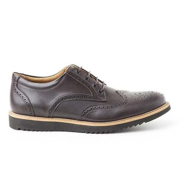 'Philip' Wing Tip Derby By Ahimsa - Espresso - Vegan Style