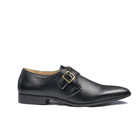 'Pierre 2' Vegan Monk Shoe by Zette Shoes - Black