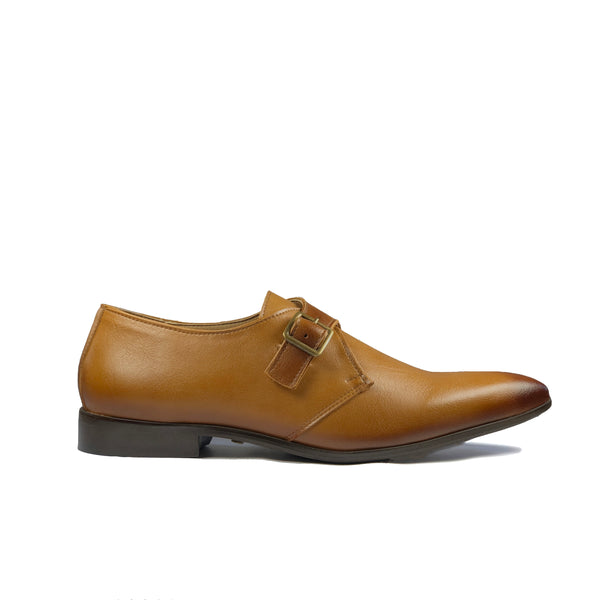 'Pierre 2' Vegan Monk Shoe by Zette Shoes - Tan