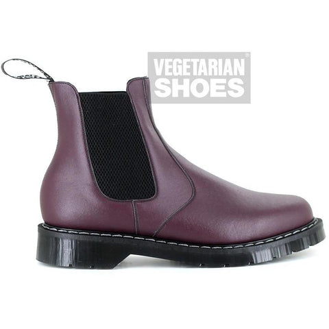 Airseal vegan Chelsea Boots by Vegetarian Shoes - burgundy