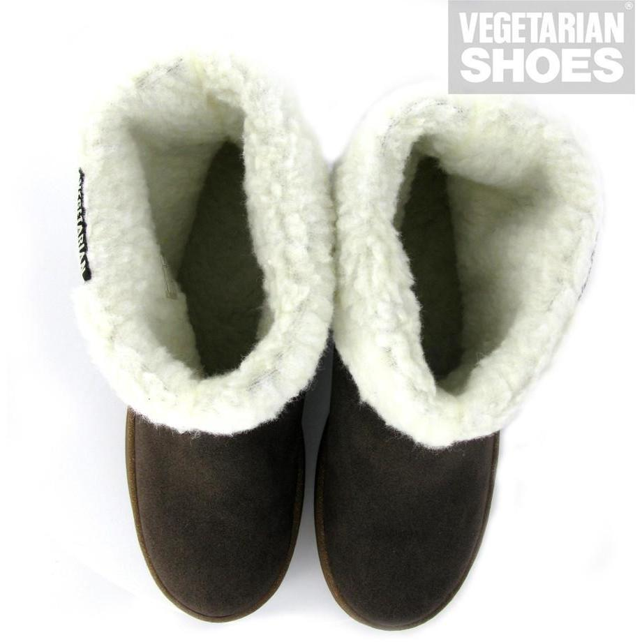 Snug slipper boots by Vegetarian Shoes - brown
